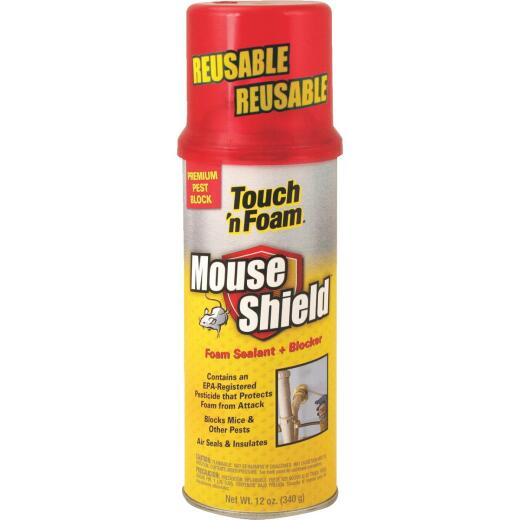 Touch 'n Foam Mouse Shield 12 Oz. Foam Sealant & Blocker