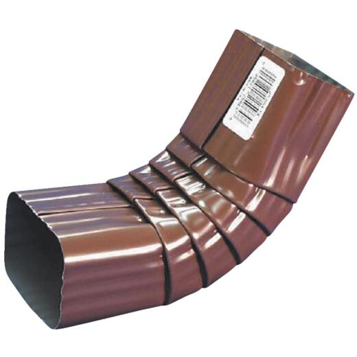 Spectra Metals 2 x 3 In. Aluminum Brown Front Downspout Elbow