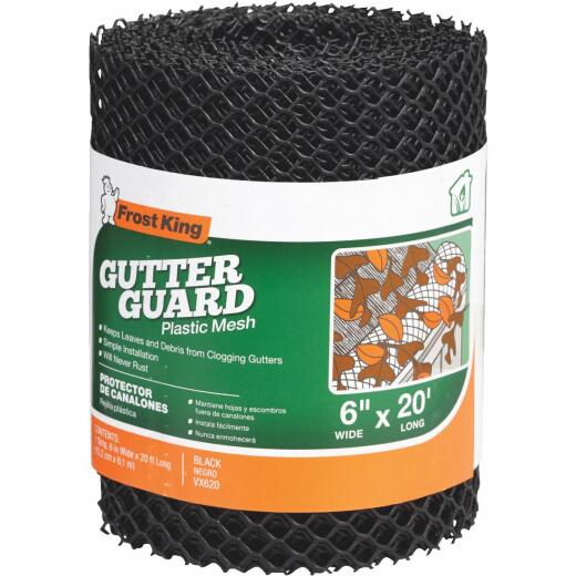 Frost King 20 Ft. Black Plastic Gutter Guard