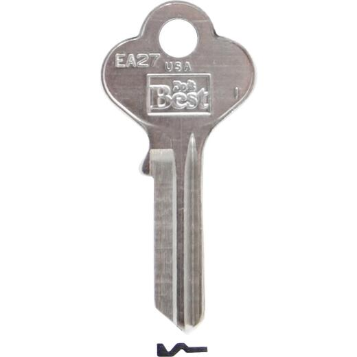 Do it Best Eagle Lock Nickel Plated General Use Key, (10-Pack)