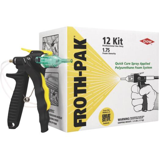 FROTH-PAK 12 Kit 3.3 Lbs. Spray Foam Sealant System