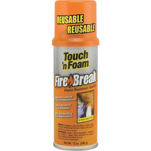 Touch 'n Foam 12 Oz. Fire Retardant Foam  Sealant
