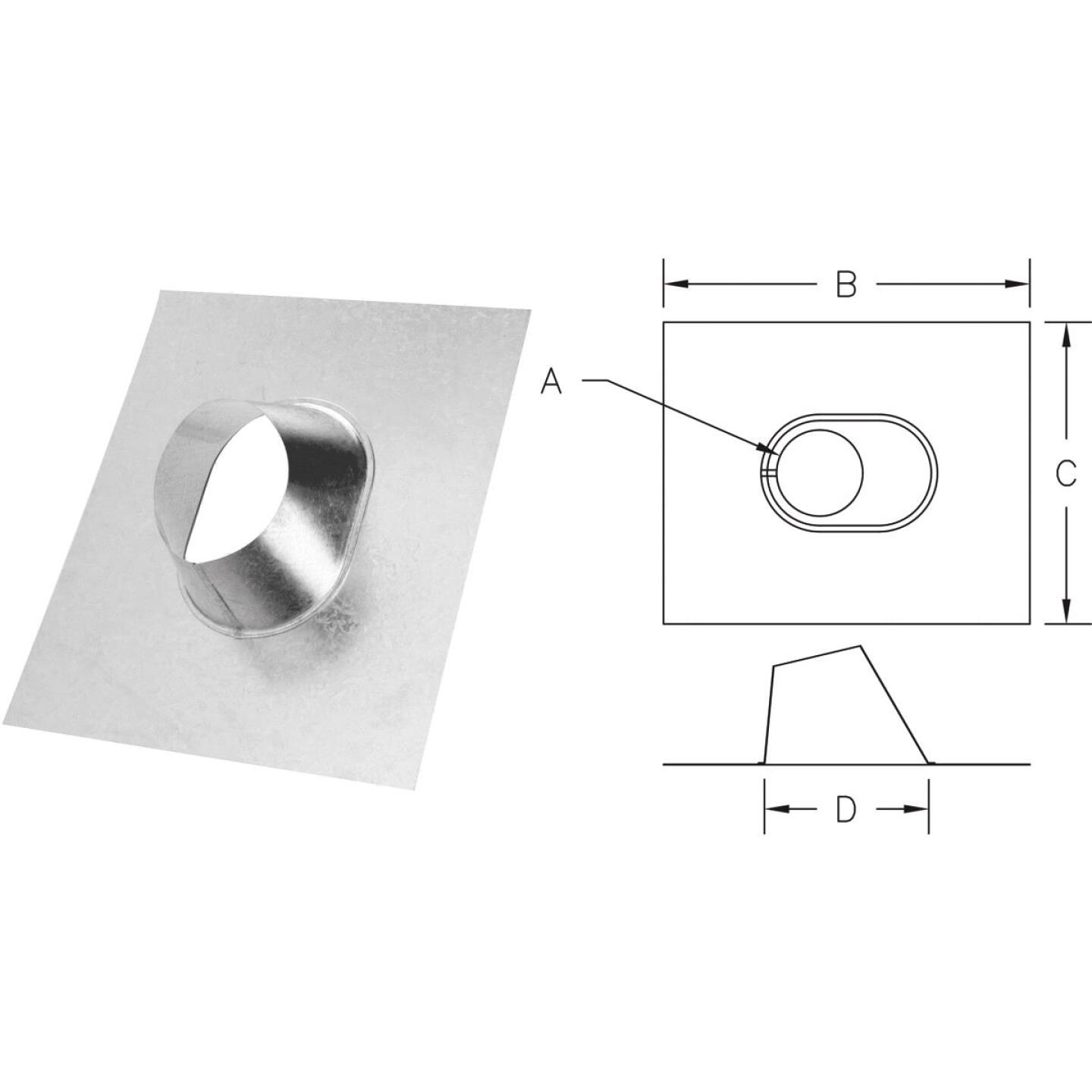 SELKIRK 4 In. RV Gas Vent Adjustable Roof Flashing Image 1