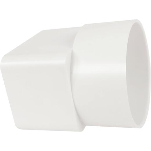 Genova 2 In. X 3 In. X 3 In. White Styrene Downspout Adapter