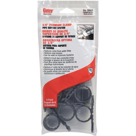 Oatey Standard 3/4 In. Plastic Nail-On Pipe Clamps, 6-Pack