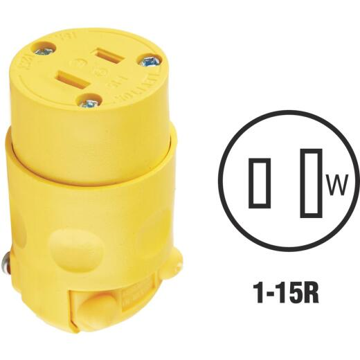 Leviton 15A 125V 2-Wire 2-Pole Residential Grade Cord Connector