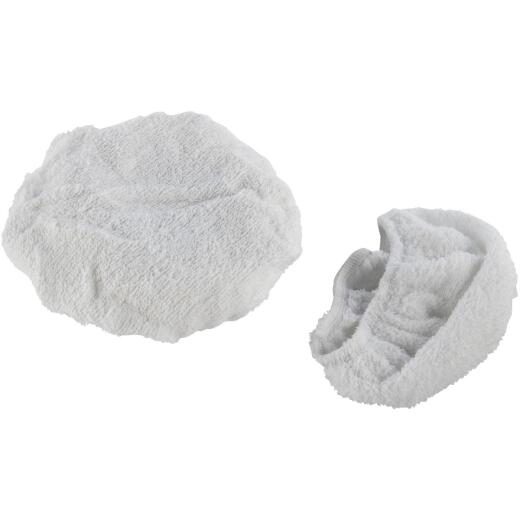 "Auto Spa 7"" To 8"" Washable Cotton Polishing Bonnet, (2-Pack)"