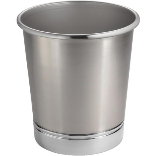 York 2 Gal. Silver Metal Wastebasket