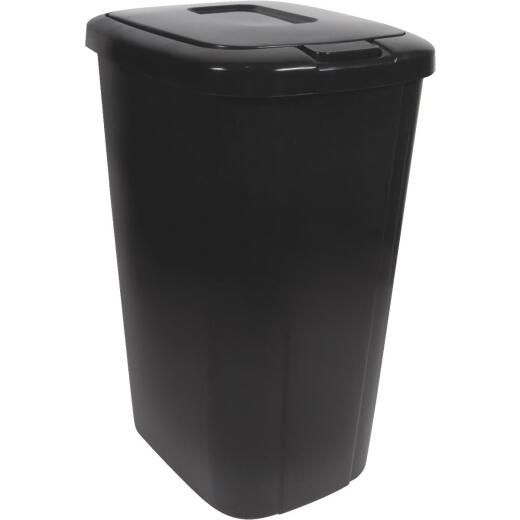 Hefty 53 Qt. Black Wastebasket with Lid