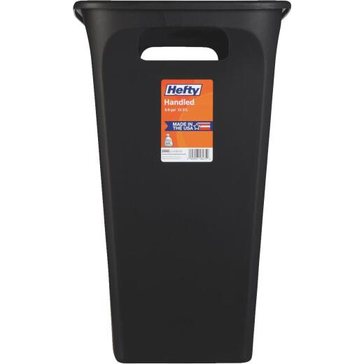 Hefty 8.8 Gal. Black Open Handled Wastebasket