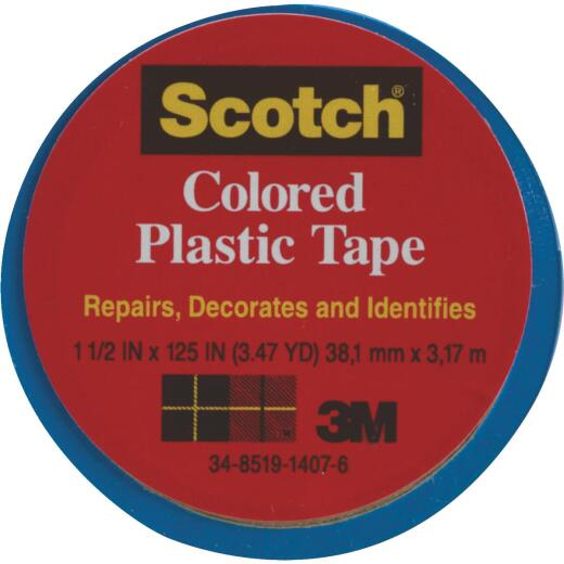 Scotch 1-1/2 In. Blue Colored Plastic Tape