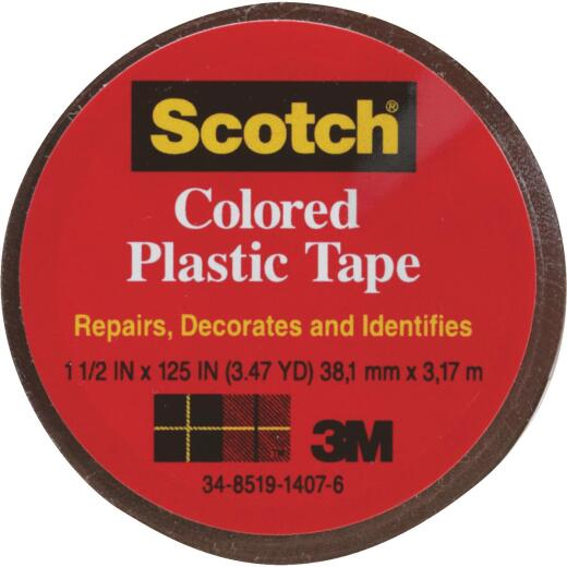 Scotch 1-1/2 In. Brown Colored Plastic Tape