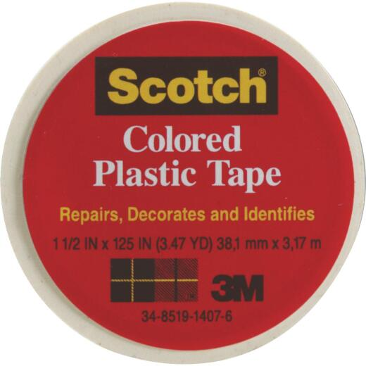 Scotch 1-1/2 In. White Colored Plastic Tape