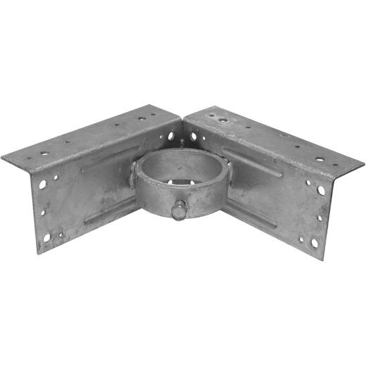 Midwest Air Tech Corner 2-3/8 in. Steel Fence Post Adapter Clamp