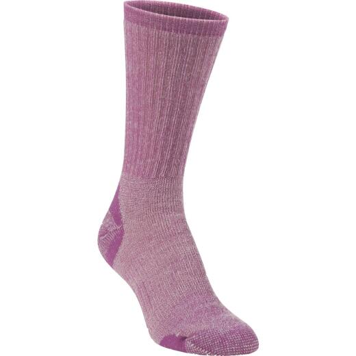 Hiwassee Trading Company Women's Medium Purple Medium Weight Hiking Crew Sock
