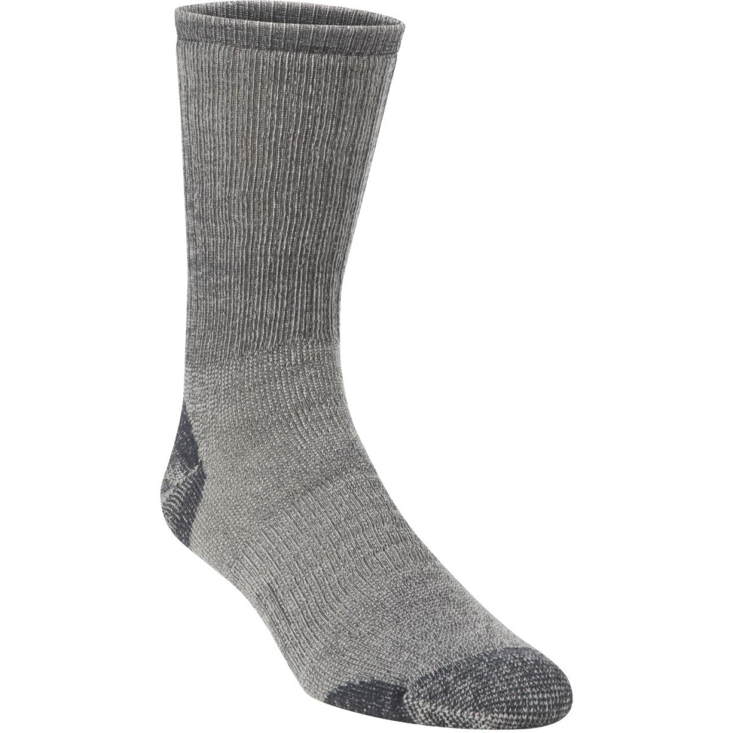 Hiwassee Trading Company Men's Large Charcoal Medium Weight Hiking Crew Sock Image 1