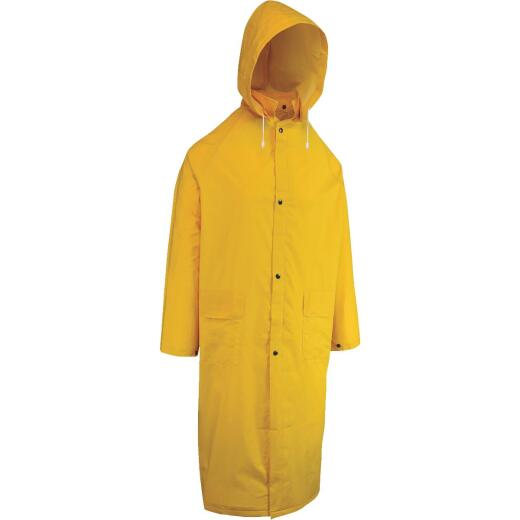West Chester 2XL Safety Yellow PVC Raincoat
