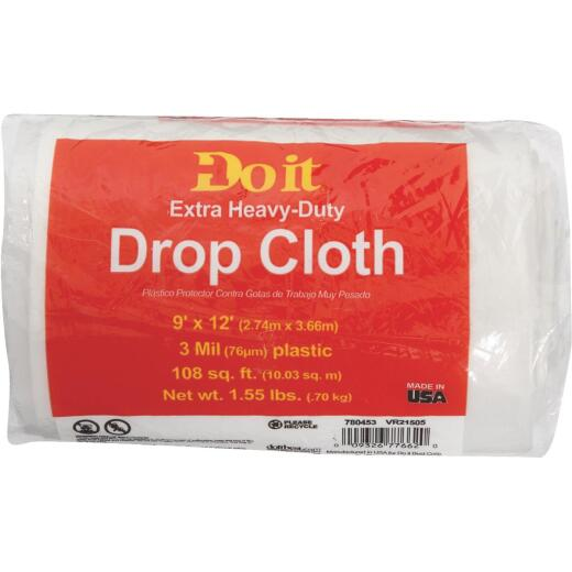 Do it Plastic 9 Ft. x 12 Ft. 3 mil Drop Cloth