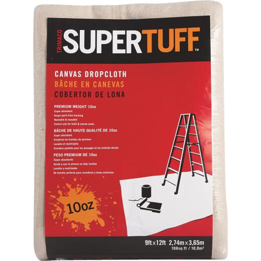 Trimaco SuperTuff Canvas 9 Ft. x 12 Ft. 10 Oz. Drop Cloth