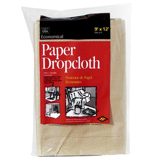 Trimaco EcoDrop Paper 9 Ft. x 12 Ft. All-Purpose Drop Cloth