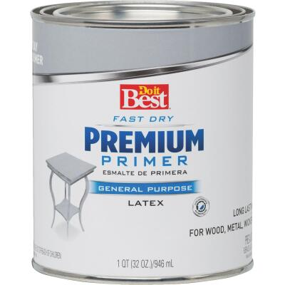 Do it Best Premium Latex Interior/Exterior Primer, Gray, 1 Qt.