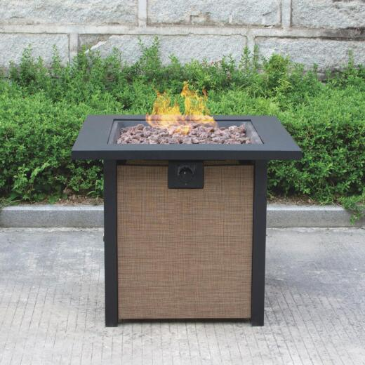 Bond Woodleaf 28 In. Round Steel Gas Fire Pit