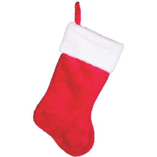 Gerson 17 In. Plush Red Stocking