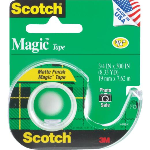 3M Scotch 3/4 In. x 300 In. Magic Transparent Tape