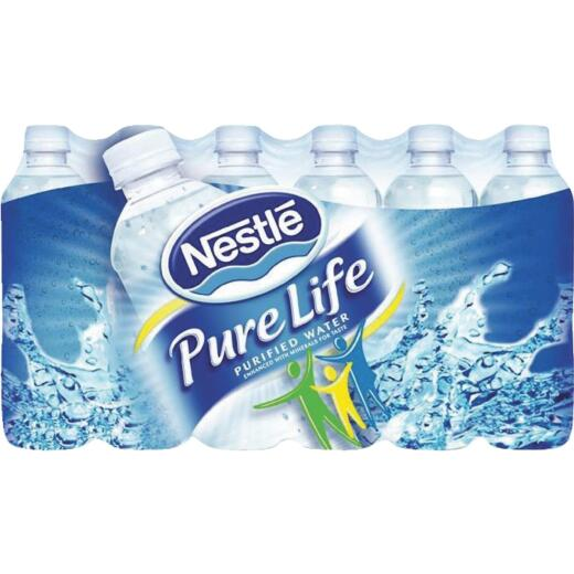 Nestle Purelife 0.5 Liter Bottled Purified Water (24-Pack)