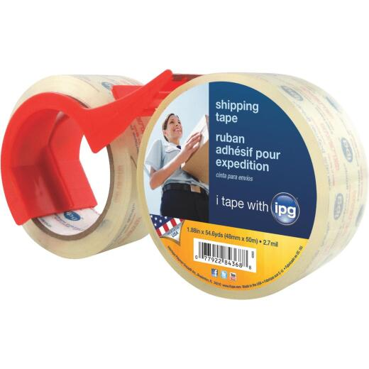 IPG 1.88 In. X 54.6 Yd. Clear Film Carton Sealing Tape (2 Pack)